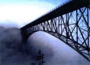 On a bridge to nowhere.