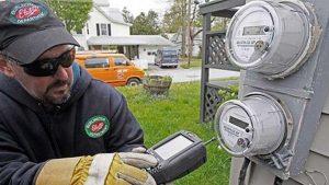 Meter reader with smart meter